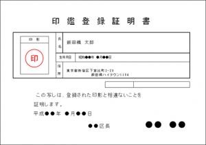 印鑑登録証明書